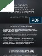 Diagnostico organizacional en el liderazgo empresarial