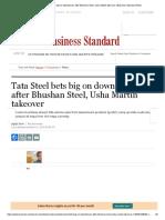 Tata Steel bets big
