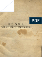 Flora Cochinchinensis V1