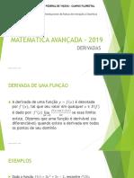 Matemática Avançada - 2019 (Aula 01)