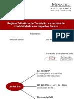Slide 1 RegimeTributárioTransição