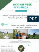 Nuevas tecnologías para lograr una agricultura resiliente ante los desastres y el cambio climático
