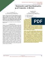 Comparison of Destructive and Non Destructive Testing of Concrete a Review IJERTV6IS110042