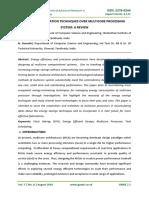 Energy Minimization Techniques Over Multicore Processing