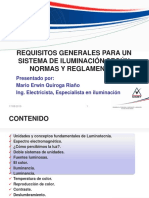 01. Requisitos Generales Para Un Sistema de Iluminacion - Mario Quiroga