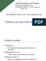 Clase 9. Cinetica de Reacciones Microbianas