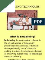 EMBALMING Techniques