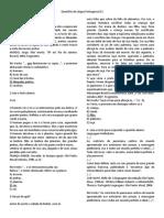 Questões de Língua Portuguesa D2