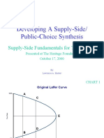 Developing a Supply Side/Public Choice Synthesis