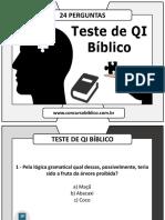 teste de qi biblico