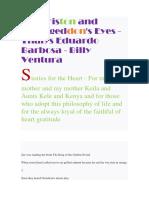Zee Griston and Armageddon's Eyes -Thalys Eduardo Barbosa - Billy Ventura