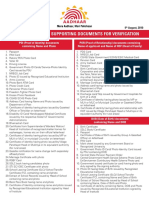 Valid Documents List