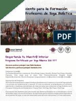 Programa Training Yoga LAMAT