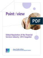 Global Reputation of the Financial Services Industry 2013 Snapshot INTL