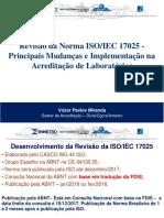 Revisão Da Norma ISO IEC 17025