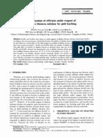 Optimización de Tioureación Alcalina