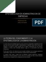 Epistemologia en Administracion de Empresas
