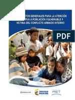 Lineamientos Generales Para La Atencion Educativa a Poblacion Vulnerable y Victima Del Conflicto Armado (1)
