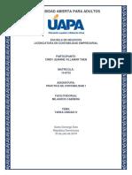 Práctica de Contabilidad i - Tarea Unidad IV y Práctica 2
