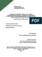 Estudio de La Dimensión Vertical de Oclusión en Telerradiografías de Perfil,