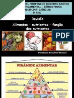 8º ANO - EnCONTRO 1 Alimentos-e-nutrientes REVISÃO