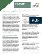 Utilisation focused evaluations