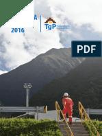 TgP - Memoria Anual 2016 Vf