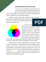Análisis de Psicología Del Color en La La Land