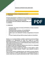 Informacion de Los Proyectos Grupo Sion en Santa Cruz Mayo 2017.Docx