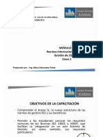 1. Módulo 3. Normas Internacionales Para Gestión SSOMA. Clase 1