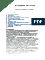 Efectos Clínicos de Los Probióticos
