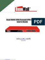 Dual Wan VPN Firewall VPN 3000