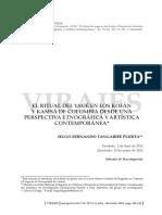 Tanagrife, Hugo. El Ritual Del Yagé en Los Kofán y Kamsá de Colombia. Virajes15(2)_5