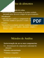 Aula 4-Análise de Alimentos (métodos analíticos)