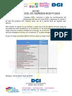 Planilla de Ingresos Modificada DGI