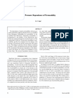 The Pressure Dependence of Permeability