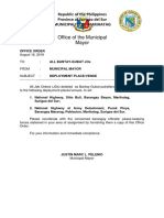 Mayor's Office Order for Bantay-Gubat