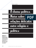 NOVAES, Regina. A DIVINA POLÍTICA. NOTAS SOBRE AS RELAÇÕES DELICADAS ENTRE RELIGIÃO E POLÍTICA.pdf