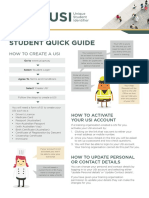 USI Student Quick Guide