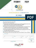 Prova e Gabarito USCS Medicina 2019 2