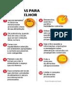 As 10 Regras Para Alimentação Saudável Ministerio Da Saúde