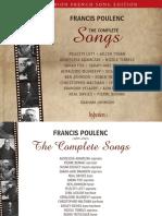 Poulenc complete mélodies (Hyperion notes)