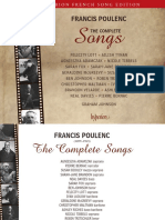Poulenc complete mélodies (Hyperion notes)