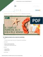 12. Objetivos Básicos de Un Plan de Marketing _ Marketing XXI