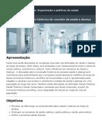 Organização de Políticas de Saúde - Aula 1