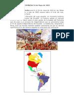 La Batalla de Pichincha 24 de Mayo de 1822