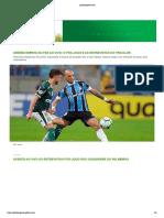 Capa Globo Esporte 17/08/2019