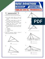 Lineas Notables en El Triangulo Para Primero de Secundaria