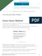 0 Como Fazer Metasil _ Fórmulas Grátis