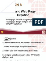 Basic Webpage Creation